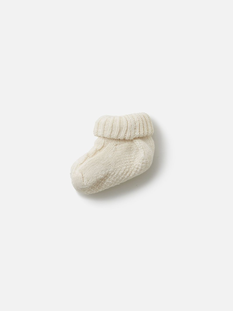 Cable Knit Baby Booties Socks