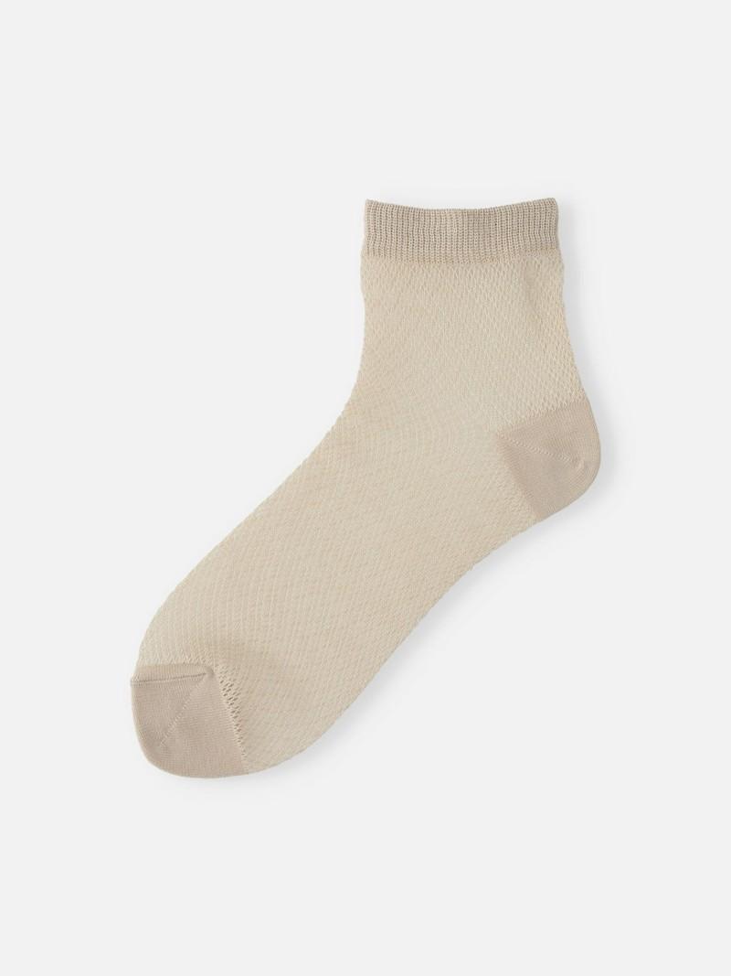Plain Mesh Ankle Socks