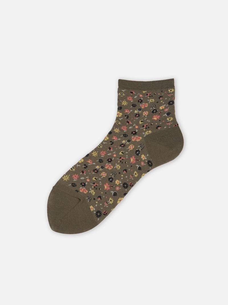 Socquette petites fleurs