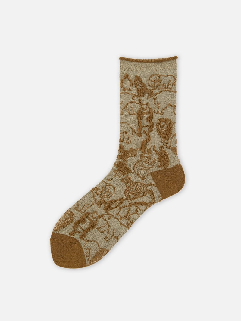 Safari animal sock filato riciclato PET