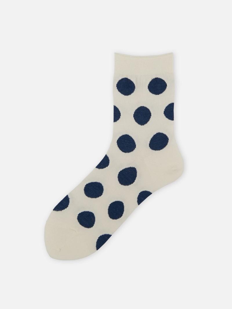 Big Dots Fine Low Crew Socks