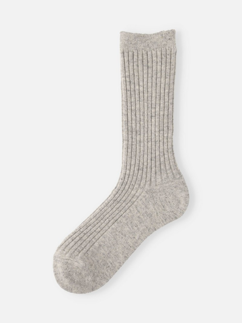 Eco Recycled Wool Ribbed Crew Socks