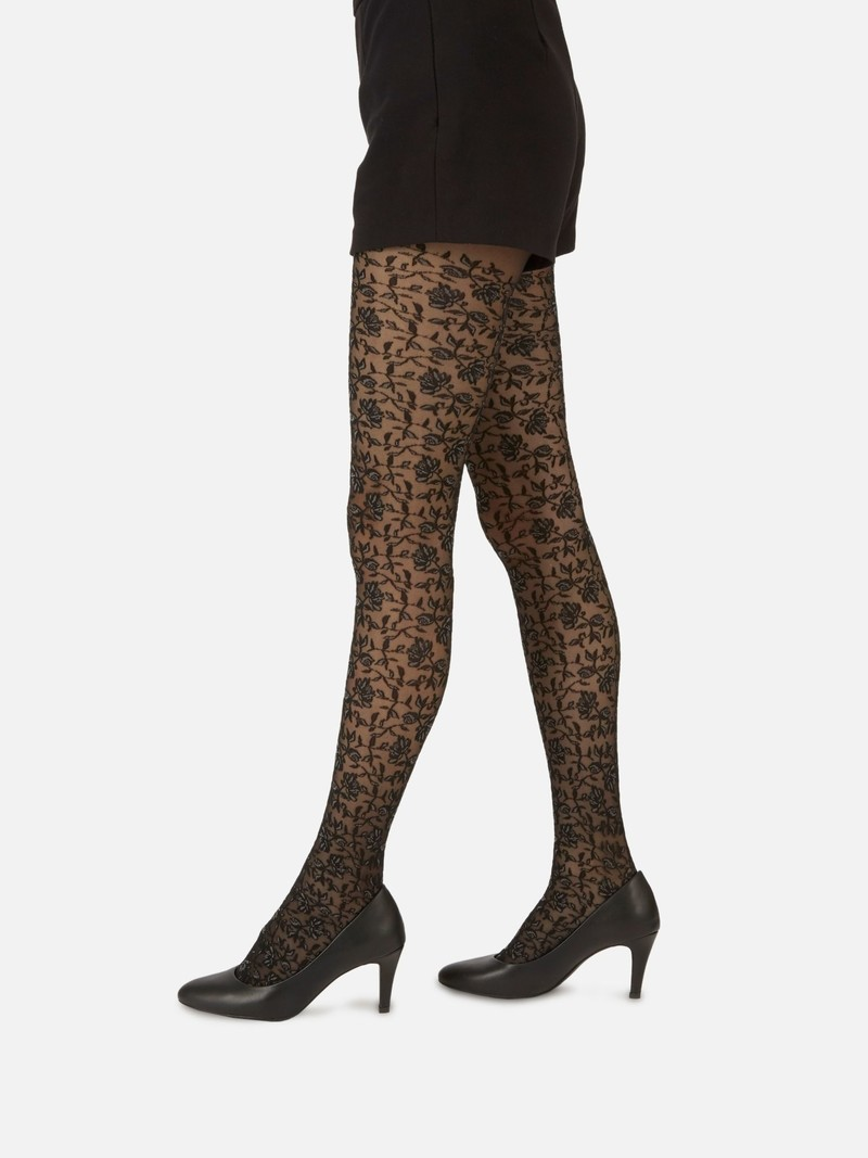 Luxe Tights L503 Flowers