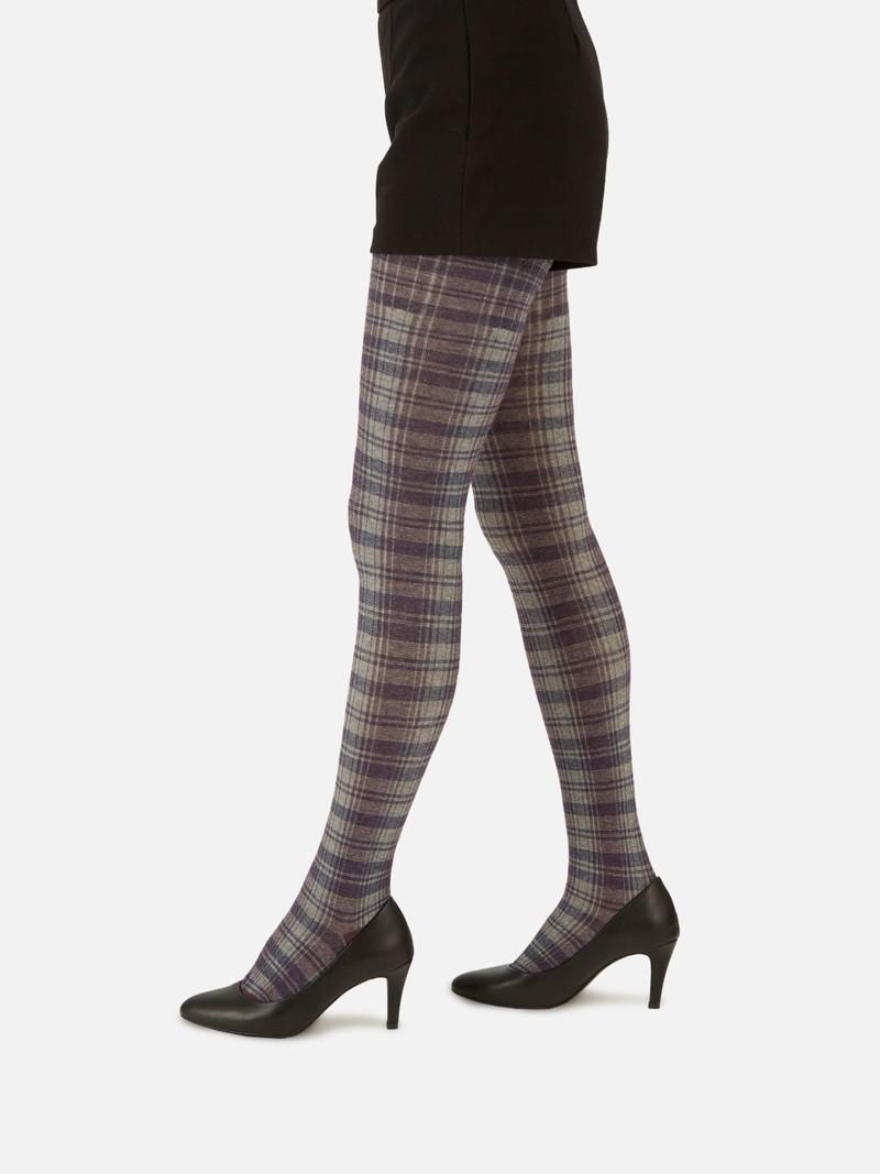 Chique panty met Schotse ruit 250D