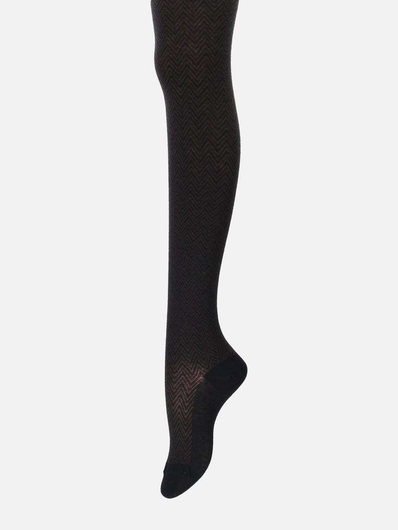 Omvangrijke katoenen chevron-panty 240D