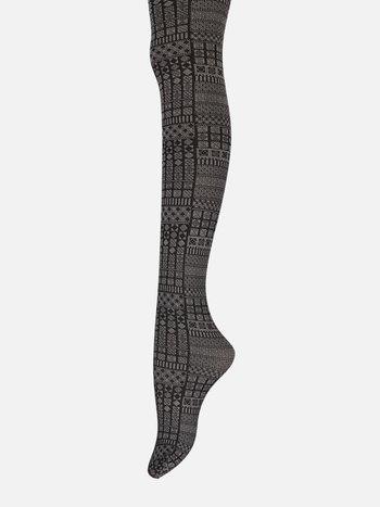 041900190 Collant motif géométrique 80D