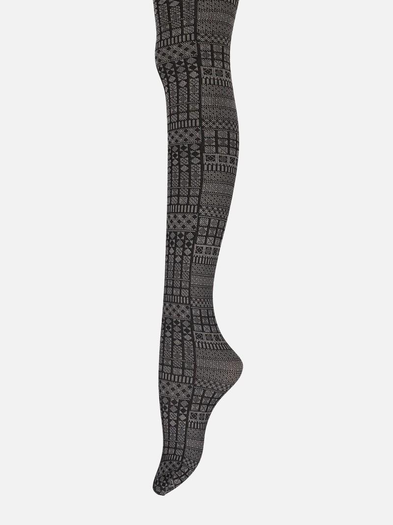 Strumpfhose mit geometrischem Muster 80D