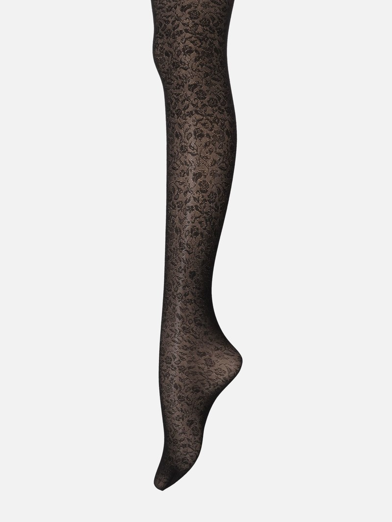 Blumenspitzenstrumpfhose