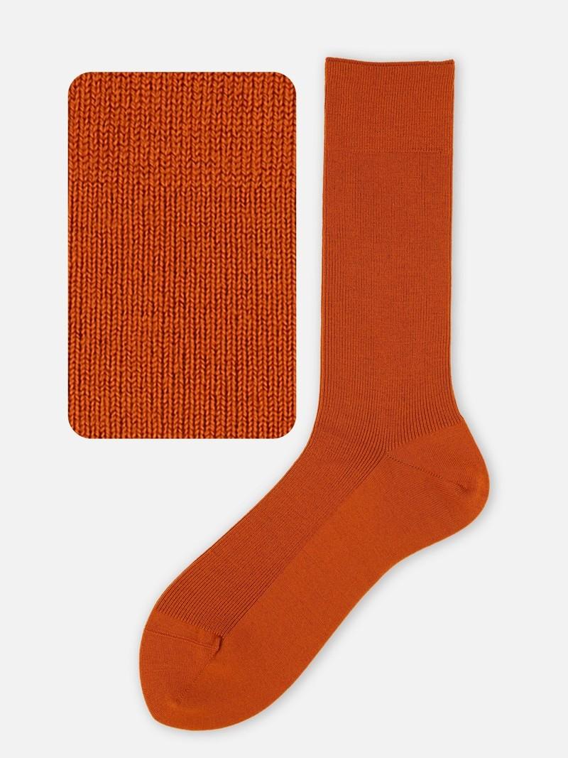 Mi-chaussette laine Mérinos luxe côtes 1x1 homme