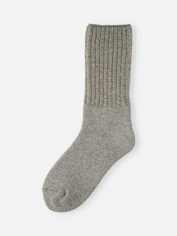 041140486 Room Socks côtes américain soie/angora