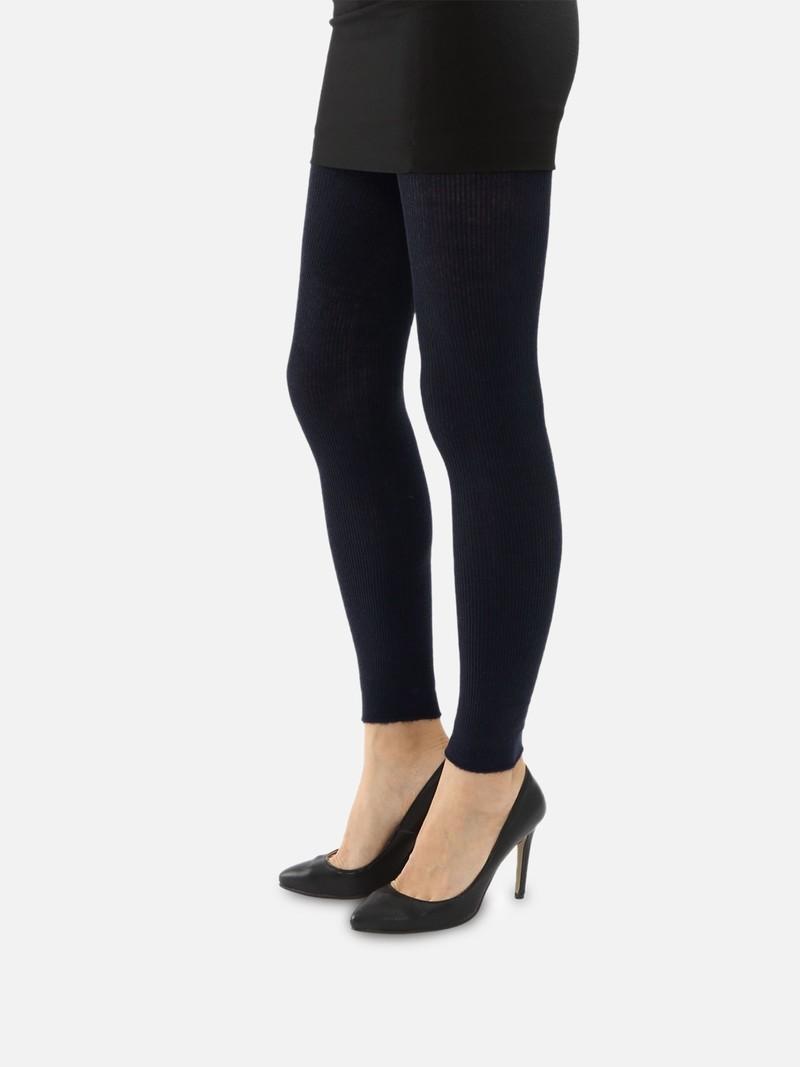 Gemengde geribbelde angora-legging