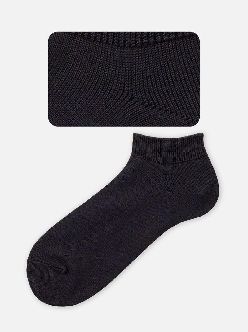 Chaussette courte unie déodorant homme M