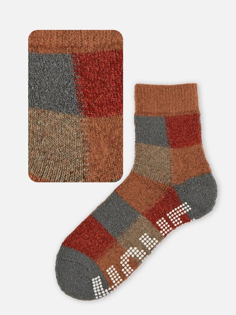 Room Socks anti-dérapant carreaux M