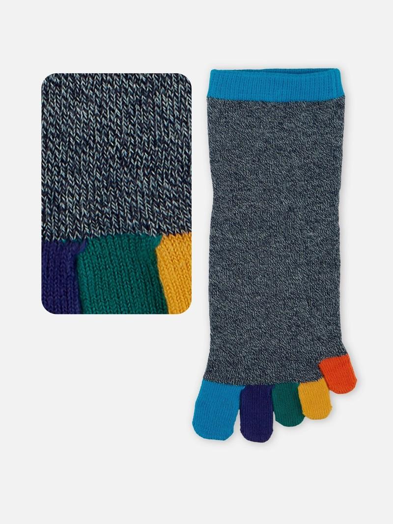 Rainbow Toe Short Socks M