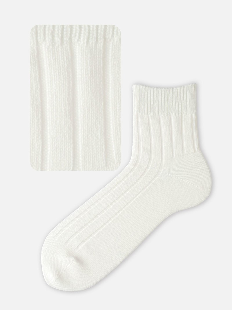 Weit gerippte kurze Socken M