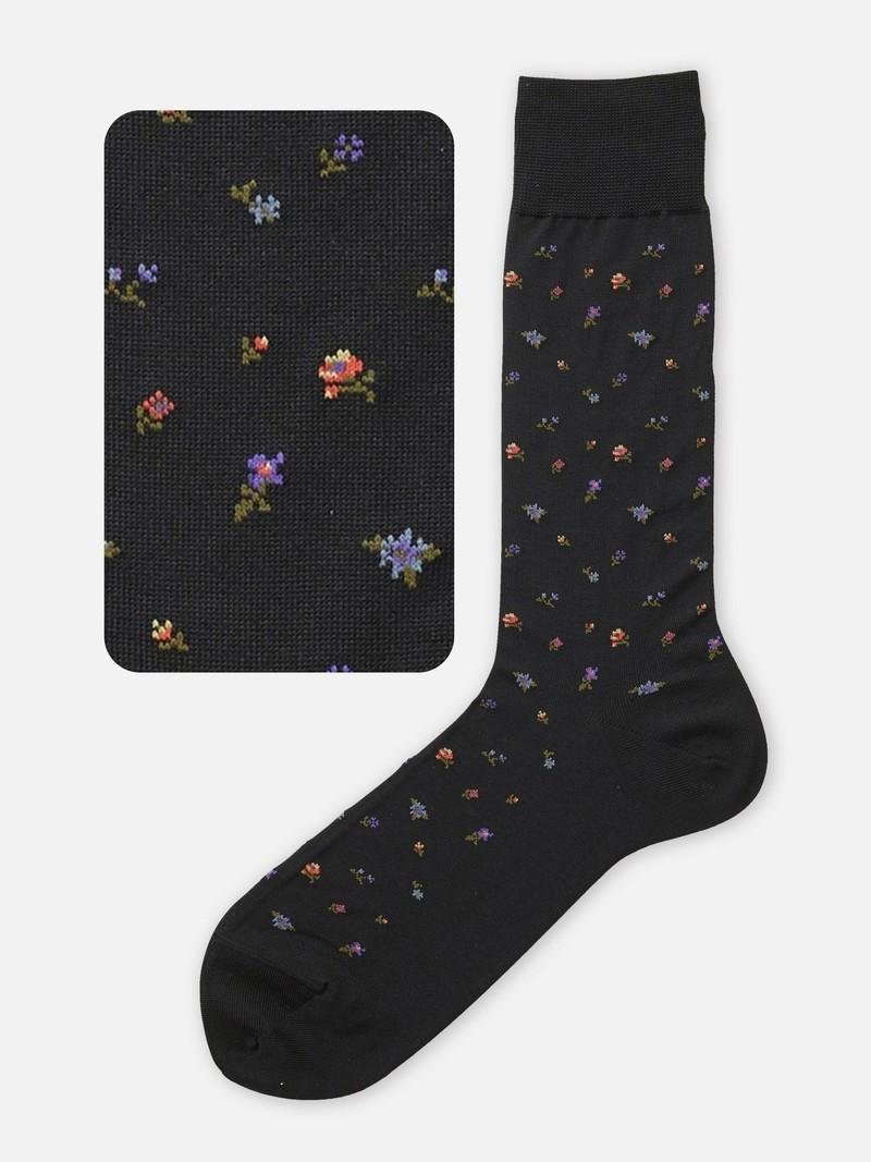 Mi-chaussette Fleurs M