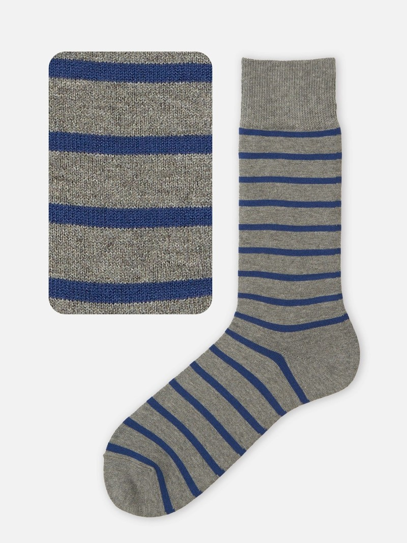 Mi-chaussette rayures T-shirt M