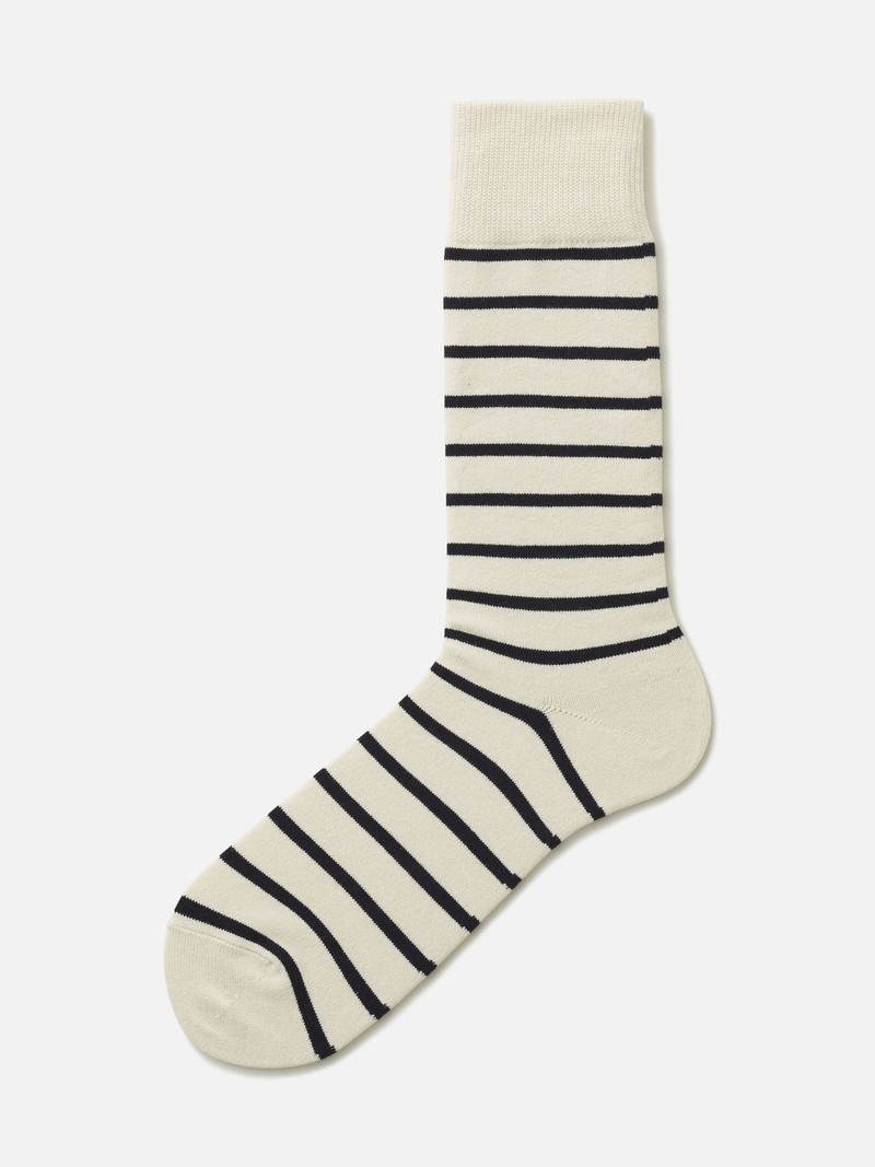 Gestreiftes T-Shirt mit mittlerer Socke L