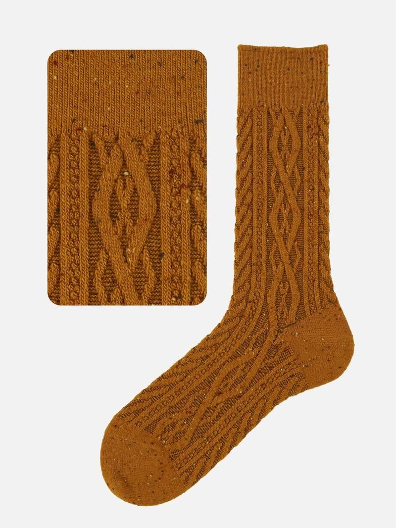 Cable Knit Flecked Mc Socks M