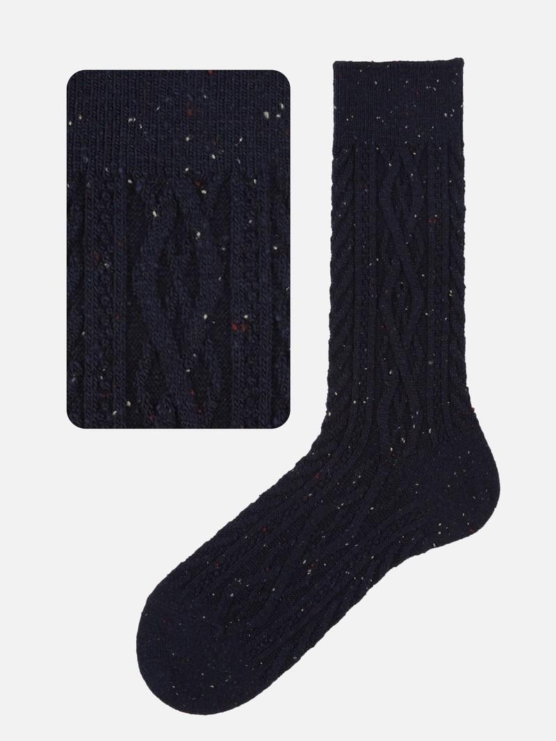 Mi-chaussette torsadée chinée M