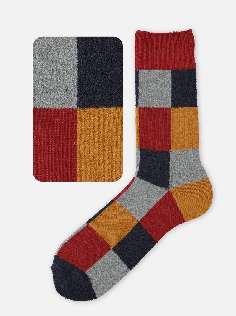 Wollen mid-sok patchwork M
