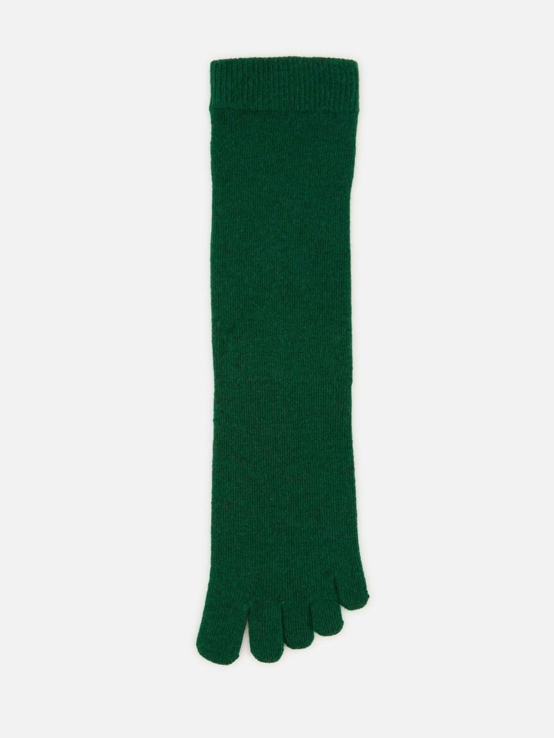 Calzino medio a 5 punte in lana merino