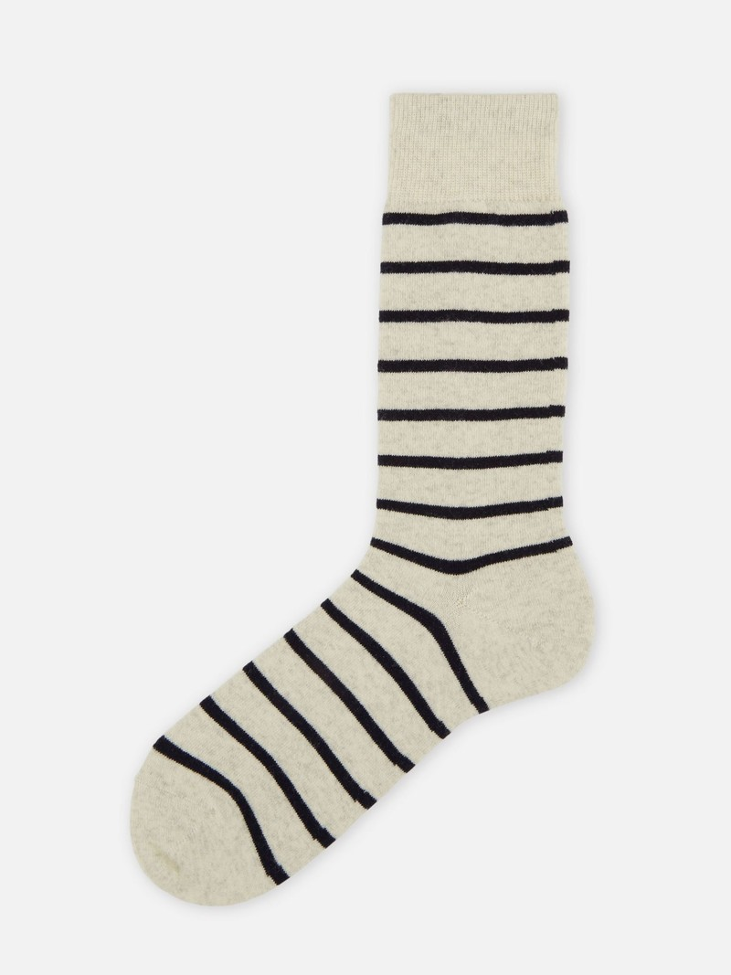 Merino Wool T-Shirt Stripes Crew Socks 156N M