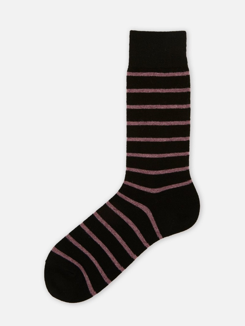 Mi-chaussette rayures T-shirt laine Mérinos 156N M
