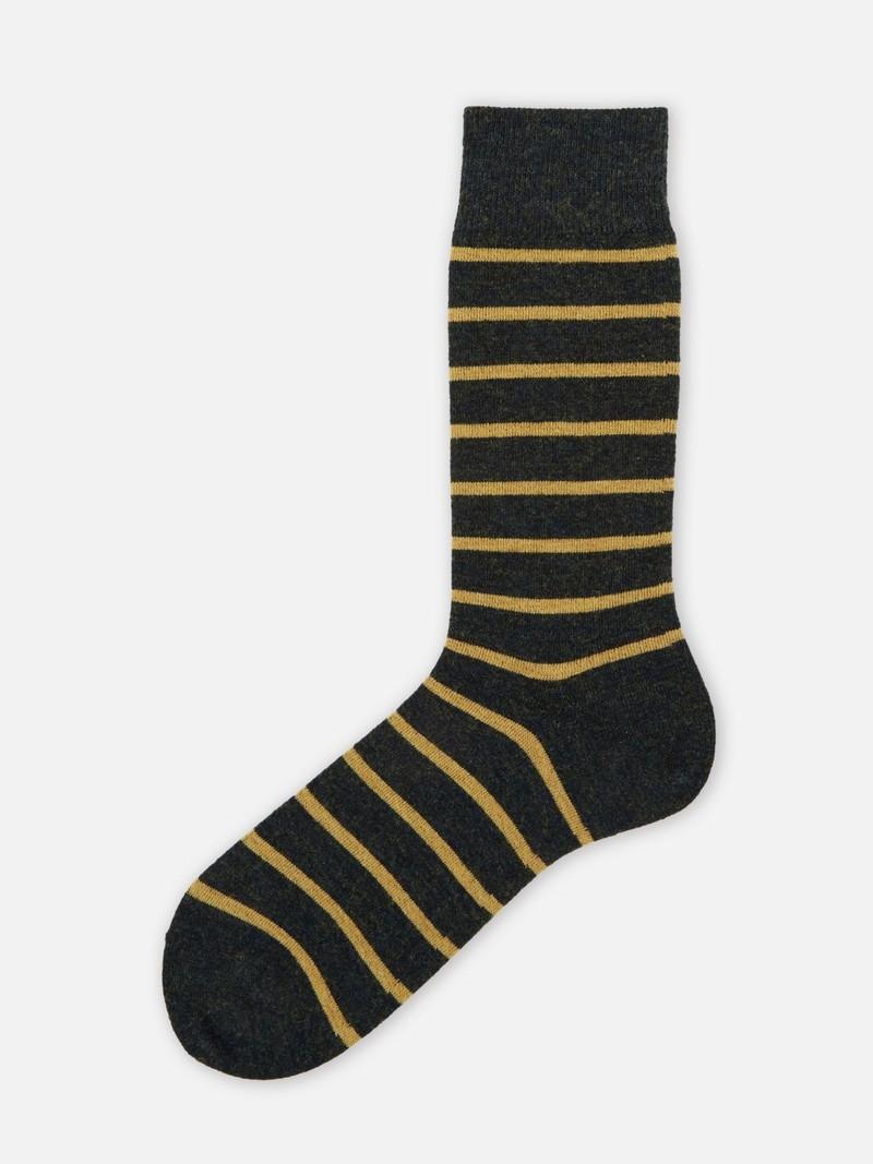 Gestreept T-shirt van merinowol met halfhoge sokken 156N M