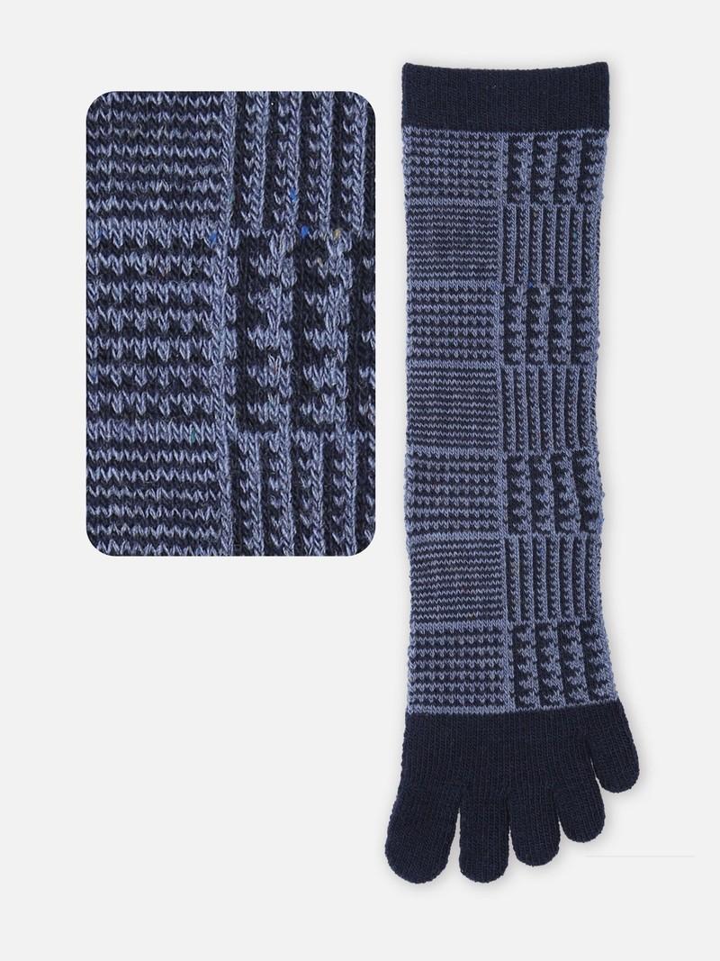 Mittelhohe Socke mit 5 Zehen aus Prince of Wales Wolle M