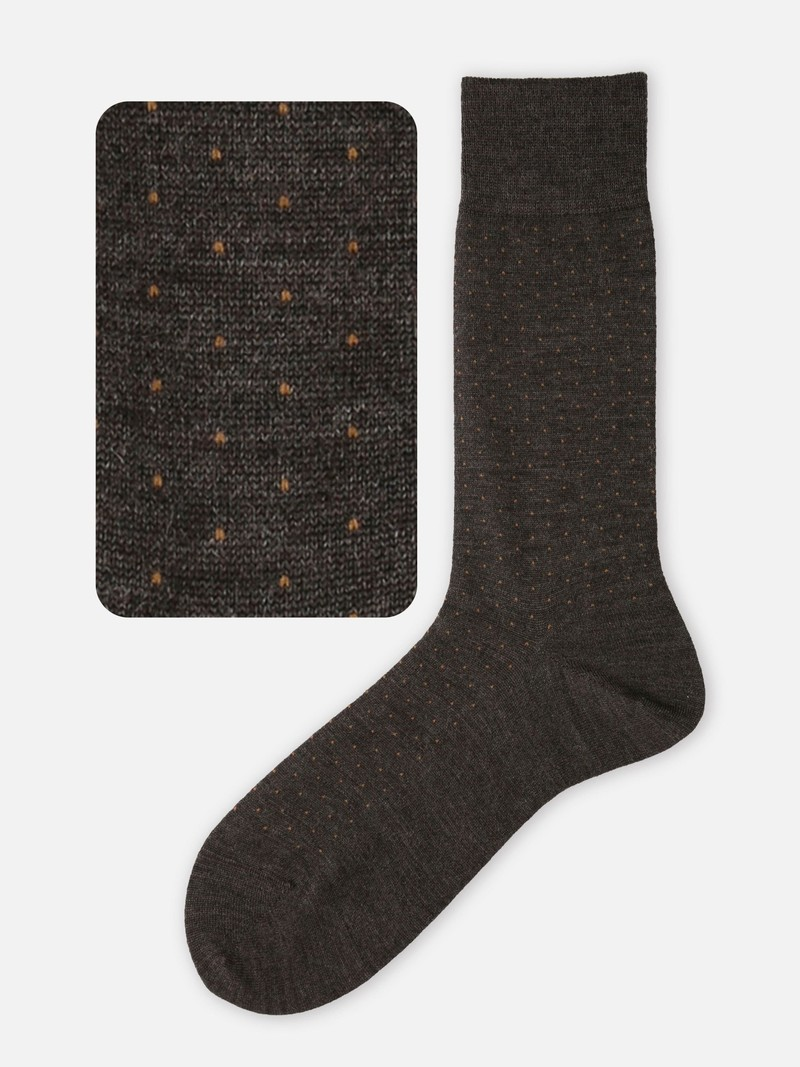 Mid-Socken-Tupfen aus Merinowolle M