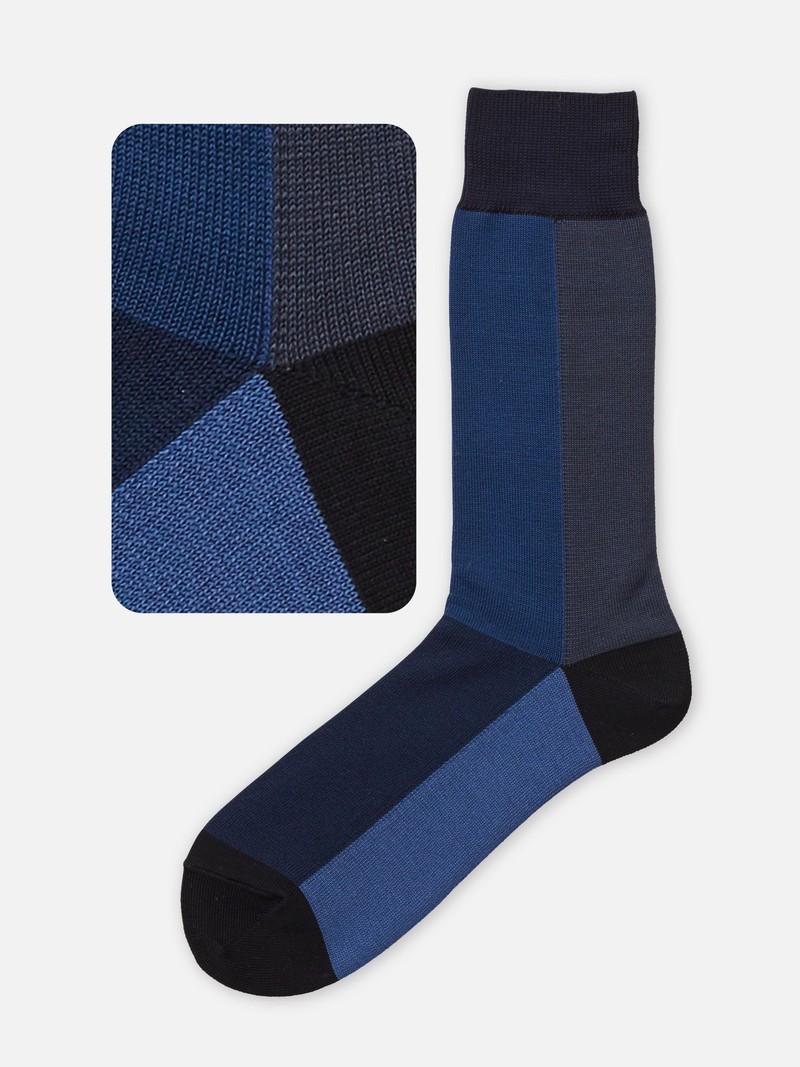 Mi-chaussette à panneau coloré 156N M