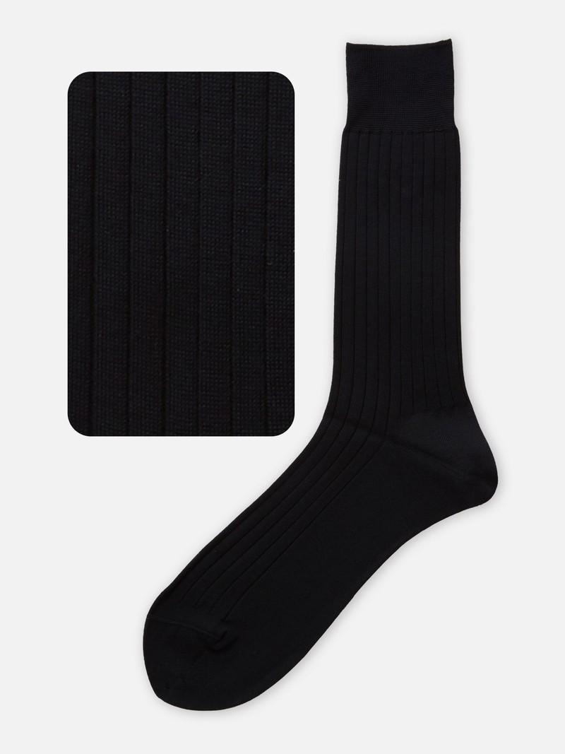 Geribbelde halfhoge sokken van puur katoen M