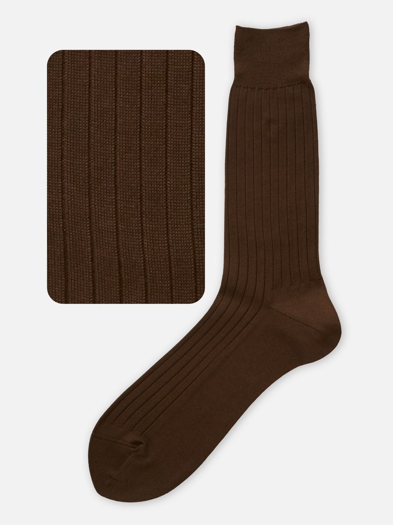 Mi-chaussette côtes pur coton M