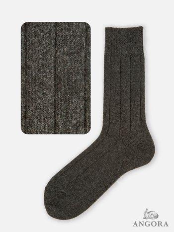 042140425 Room Socks angora côtes larges M