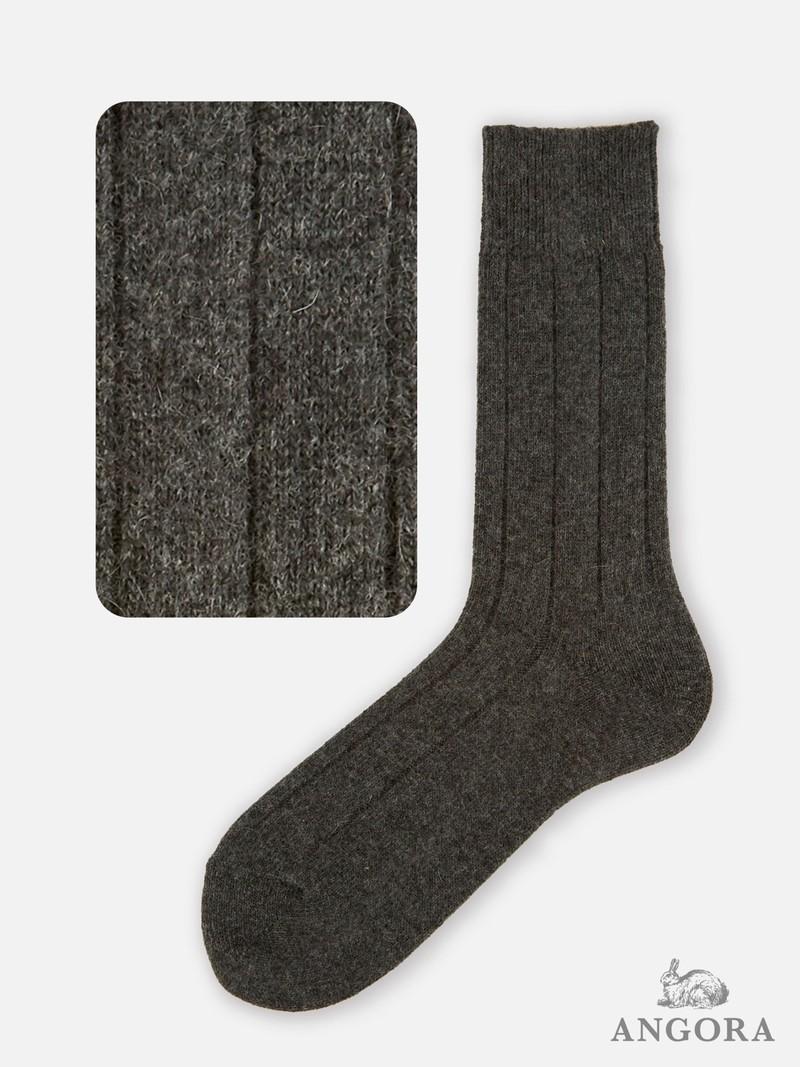 Room Socks angora brede rib M