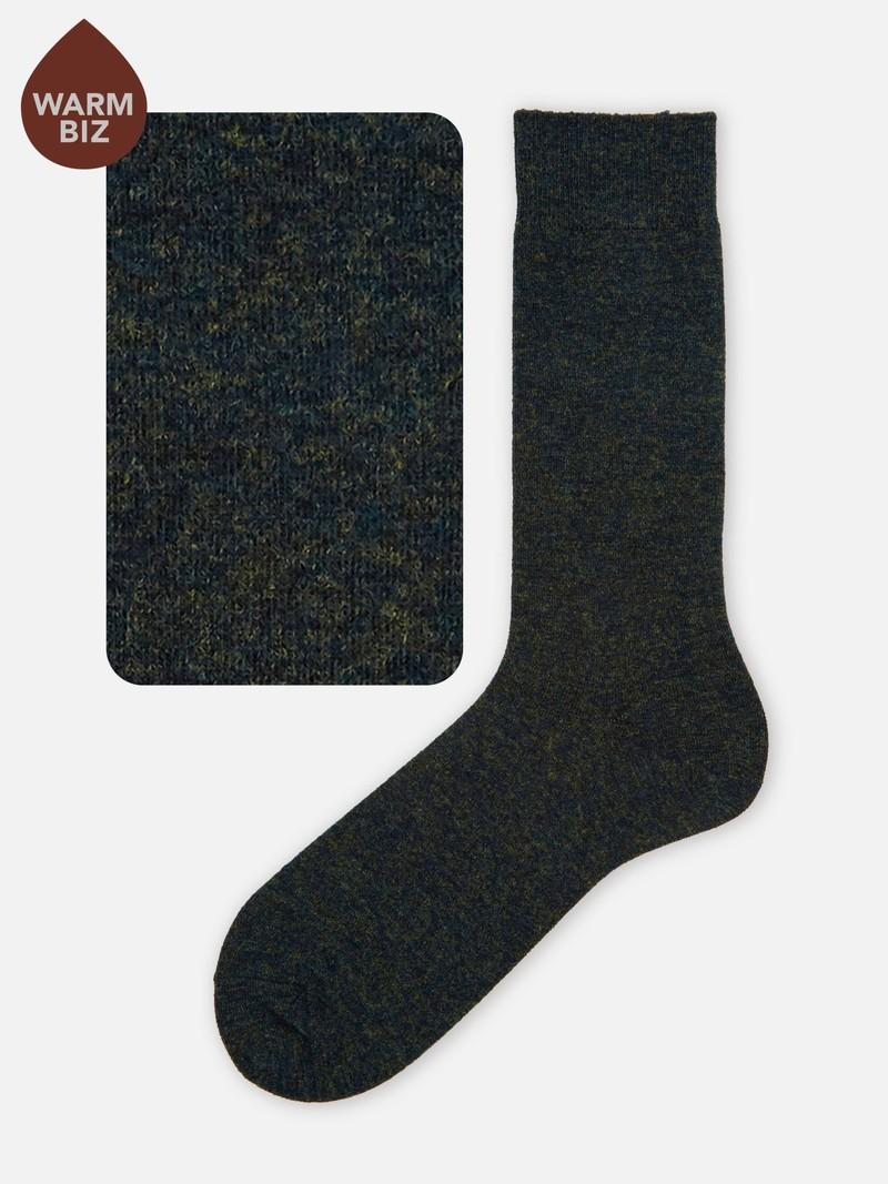Mi-Chaussette haute aussette laine Mérinos unie colorée 176N L