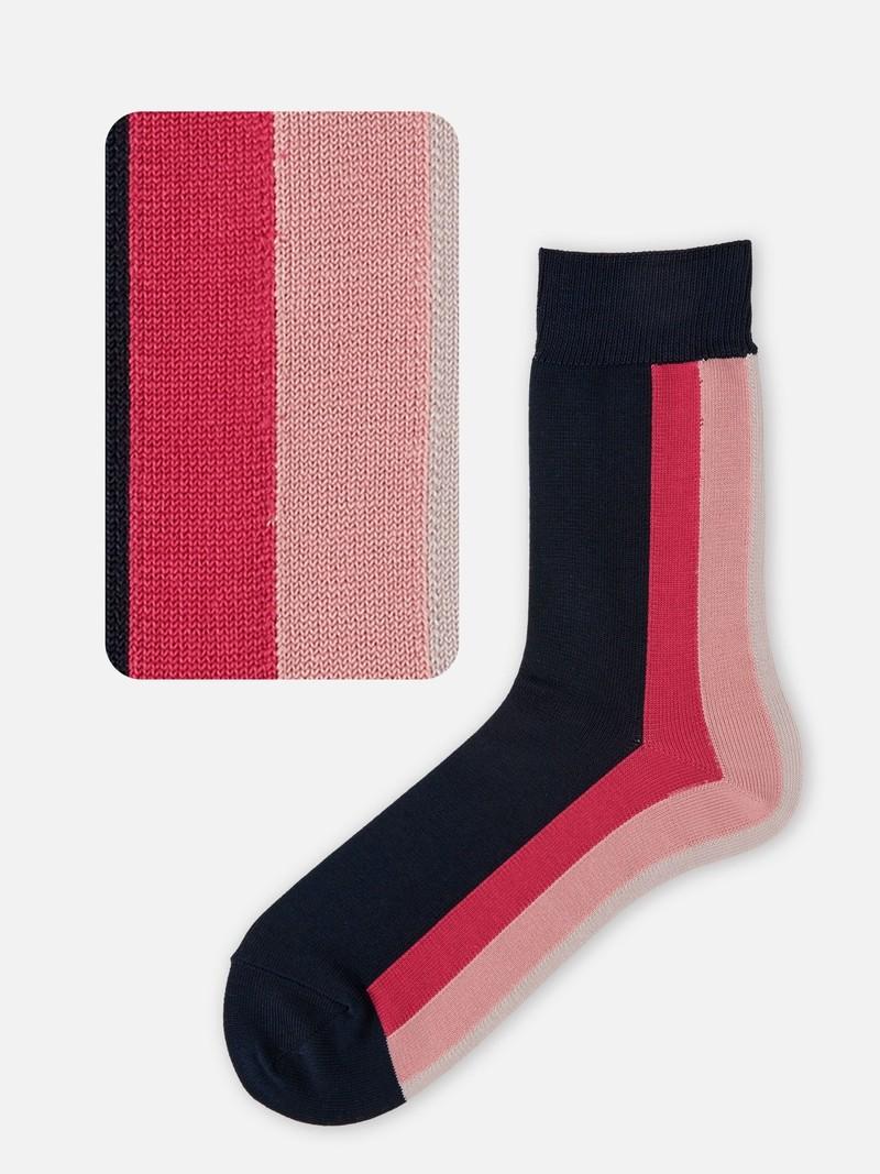 Back Colour Stripe Crew Socks M