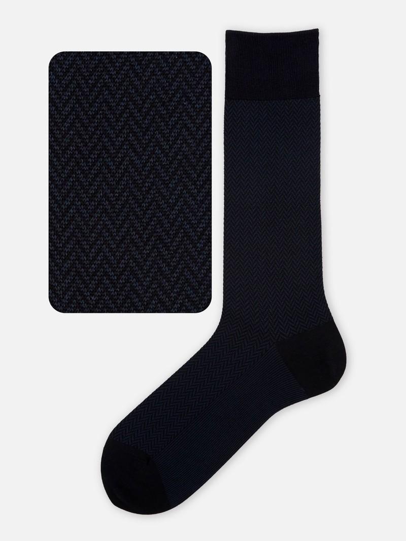 Mi-chaussette chevron fine JQ220 M