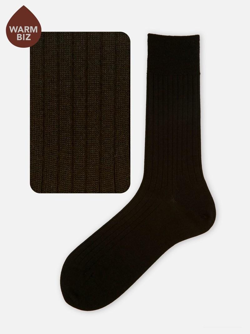 Calzini in lana merino 6x2 a coste M