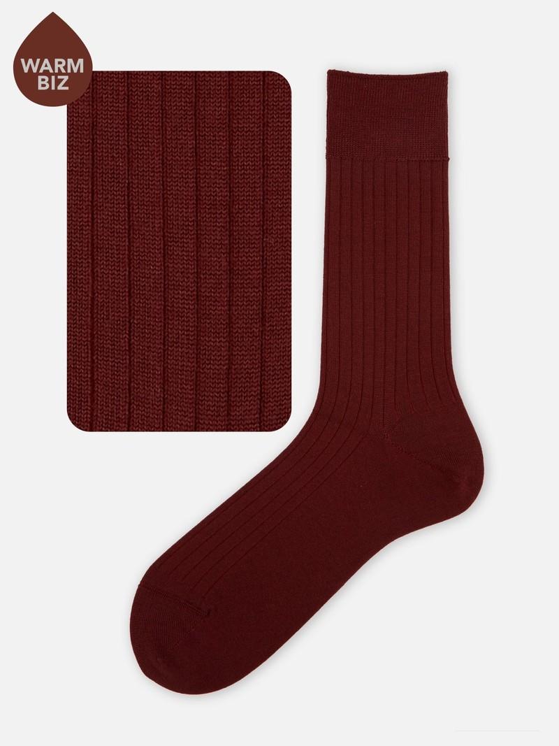 Merino Wool 6x2 Ribbed Socks M