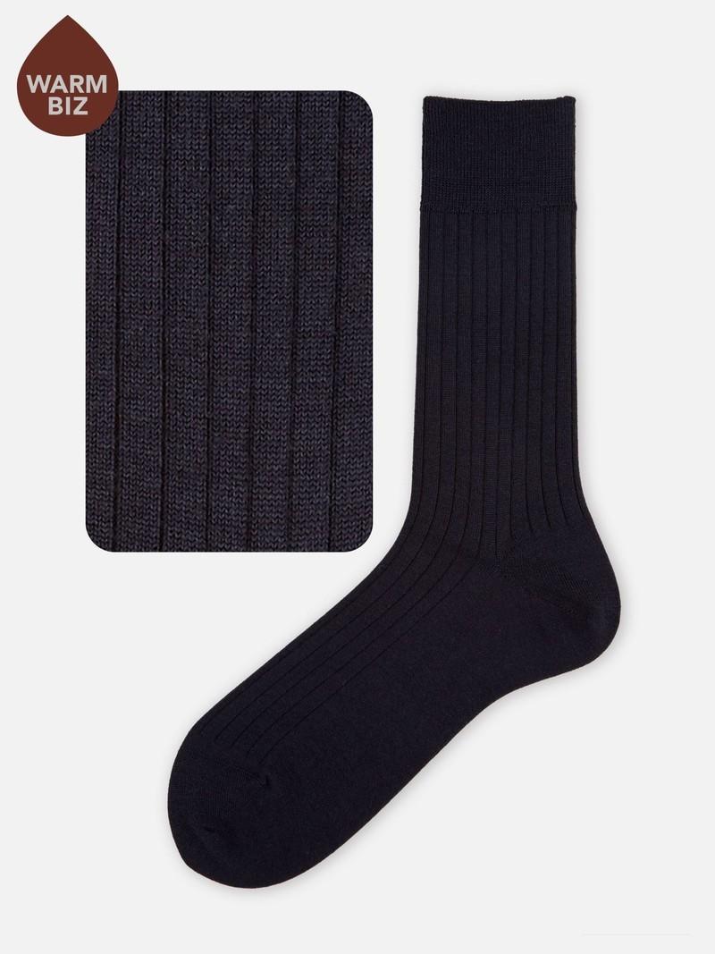 Merino Wol 6x2 Geribde Sokken M