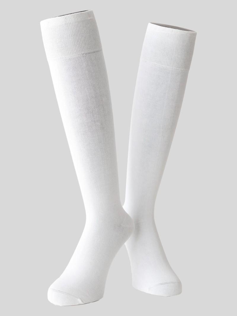 High Socken schlichte Basis-Supima-Baumwolle 220N M