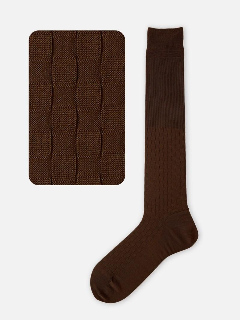 Karierte hohe Socke 220N M