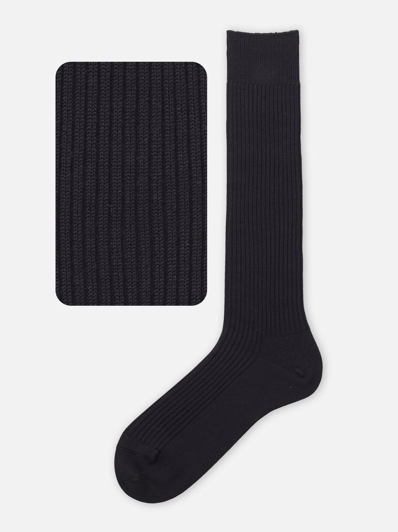 144N hohe Socke, 2x2 M Rippe