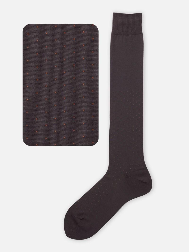 Hohe gepunktete Socke M