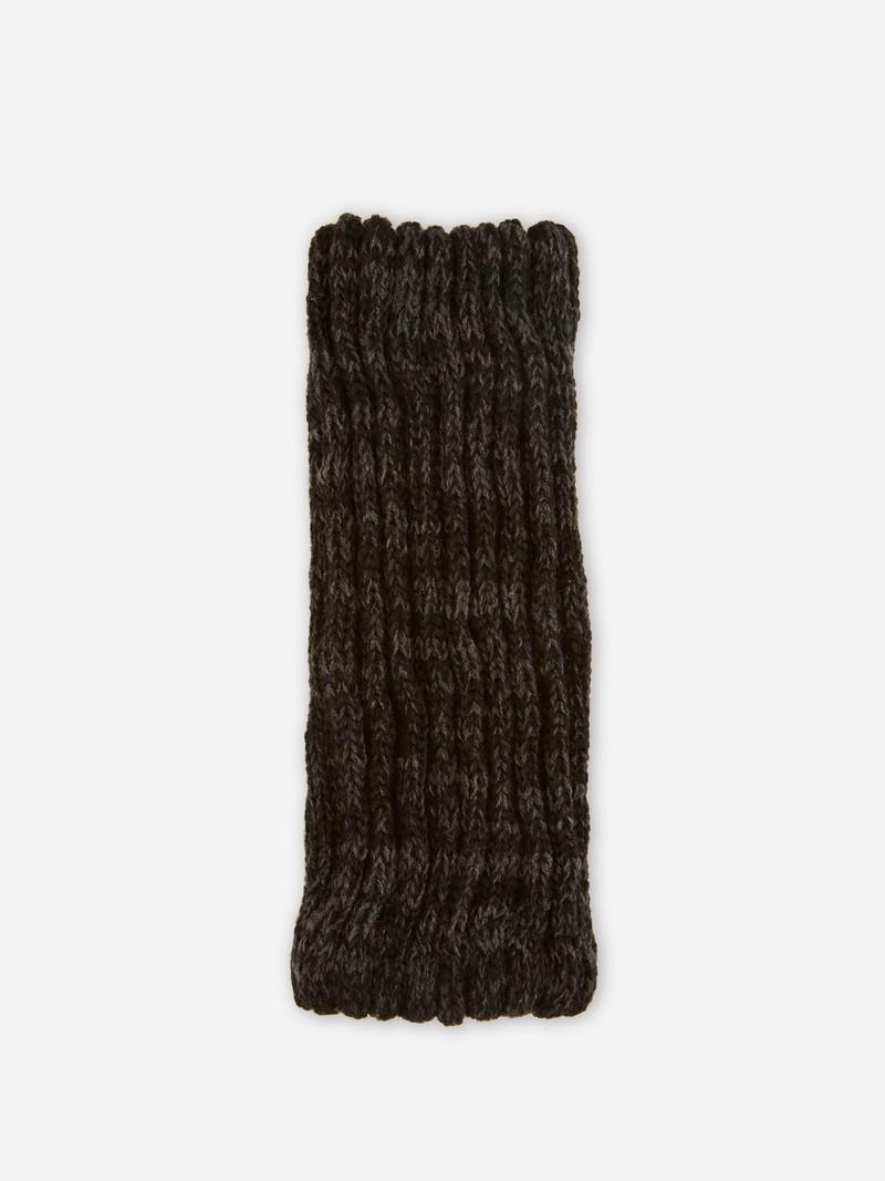 Cropped beenwarmer van zijde en merinowol