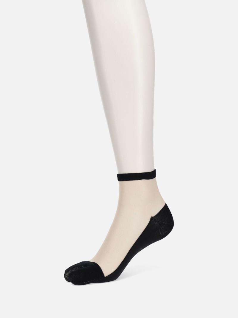 Front Tulle Ankle Tabi Socks