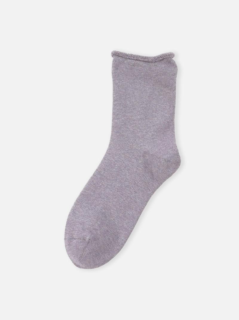 Koryo Cotton Roll Top Pile Low Crew Socks