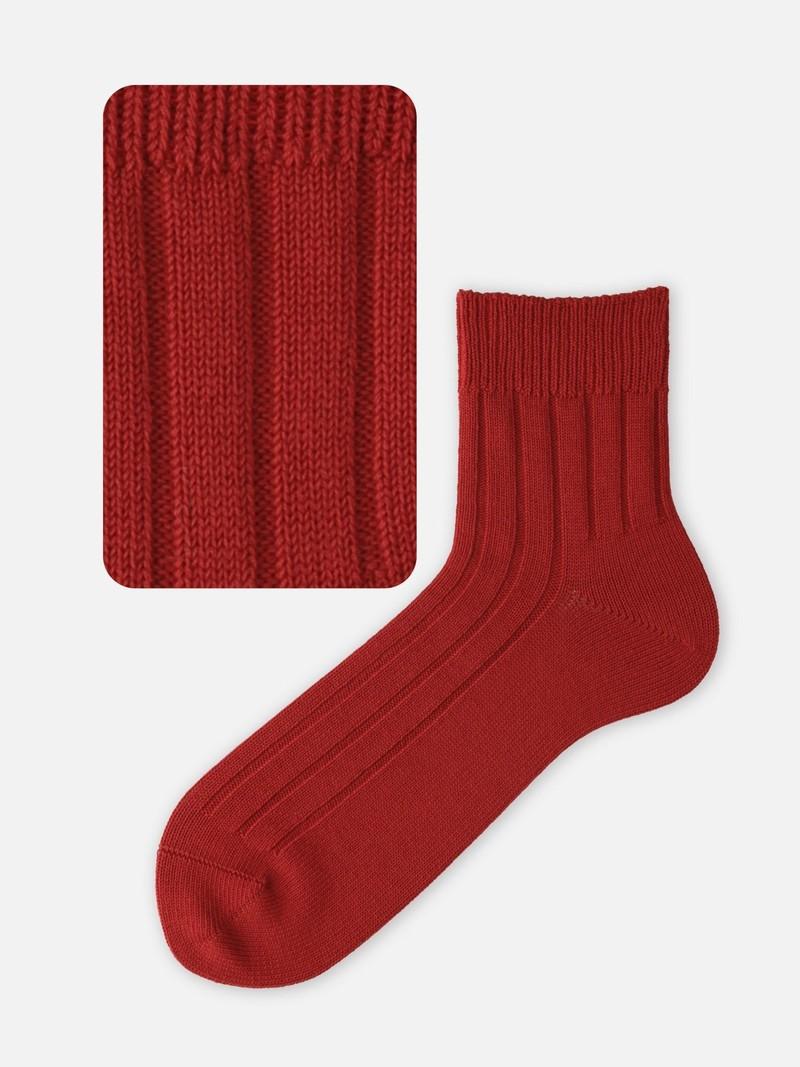 Wide Ribbed Short Socks L